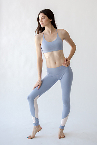 [해외배송][몬티엘]Montiel Tori Two Toned Legging Lilac Grey