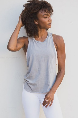 [해외배송][몬티엘]Riley Cropped Tank - Steeple Grey