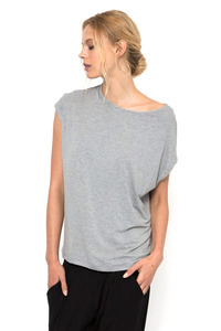 Dharma Bums BAMBOO GREY MARL LUXE LAYER TOP