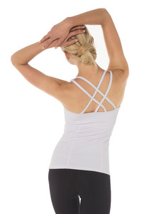 Dharma Bums WHITE PRANA FLOW SPORTS TANK