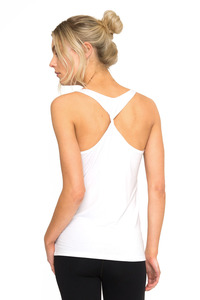 Dharma Bums BAMBOO TEE - TWISTED BACK WHITE