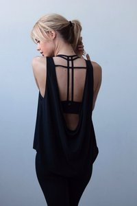 [해외배송][몬티엘]Montiel COWL BACK TANK IN BLACK