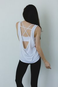 [해외배송][몬티엘]Montiel COWL BACK TANK IN WHITE