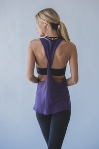 [해외배송][몬티엘]Montiel TWIST TANK IN HEATHERED EGGPLANT