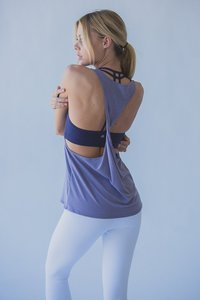 [해외배송][몬티엘]Montiel TWIST TANK IN HEATHERED LAVENDER