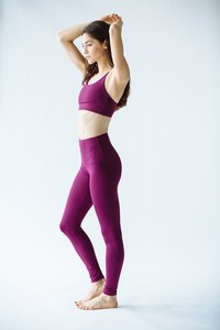 [해외배송][몬티엘]Montiel HIGH WAISTED FONDA LEGGING IN EGGPLANT