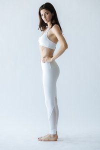 [해외배송][몬티엘]Montiel MARINA MESH LEGGING IN WHITE