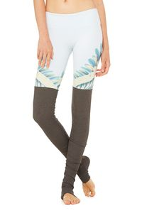 [해외배송][알로]alo GYPSET GODDESS X ALO GODDESS LEGGING - BLUE TROPICAL FEATHERS