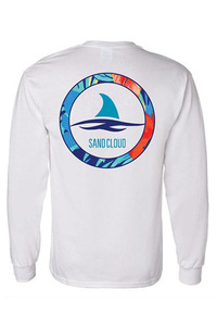 Sandcloud 롱슬리브 Long Sleeve White Shark Week Floral