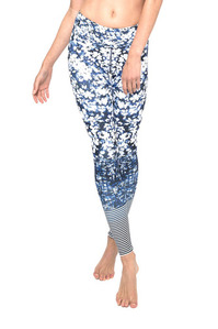 DHARMA BUMS DAISY BLUE STANDARD WAIST ACTIVE & LEGGING - FULL LENGTH
