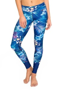 Dharma Bums HIGH WAIST LEGGING - FULL LENGTH CYBER TROPIC