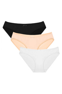 [해외배송]Ekouaer Womens Low Rise Hi Cut No panty Line Bikini Brief Underwear 3 pack