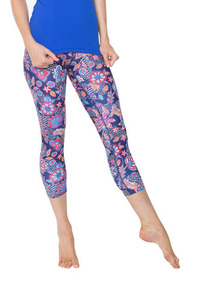 DHARMA BUMS BOHO BLOOM HIGH WAIST LEGGING - 7/8